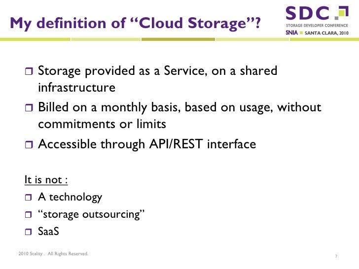 Sdc2010 Scality Cloud Storage Vs Object Storage For