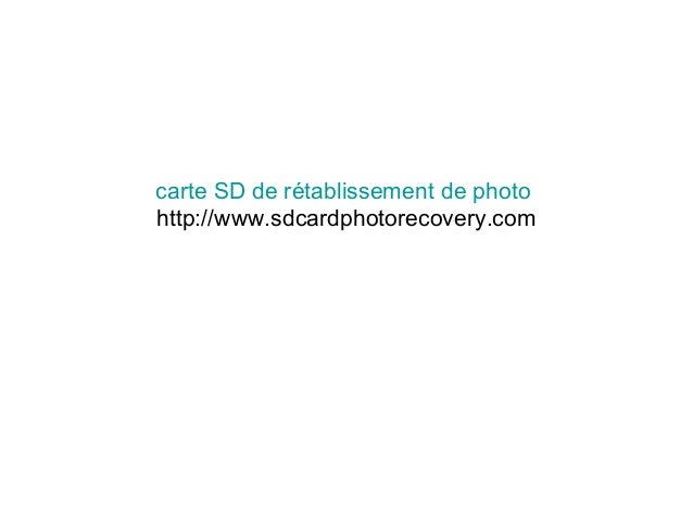 carte SD de rétablissement de photo http://www.sdcardphotorecovery.com