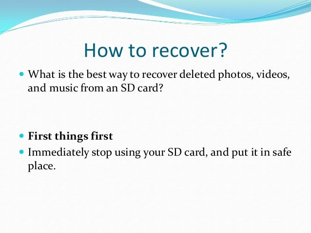SD Card recovery for the digital camera, camcorder,android