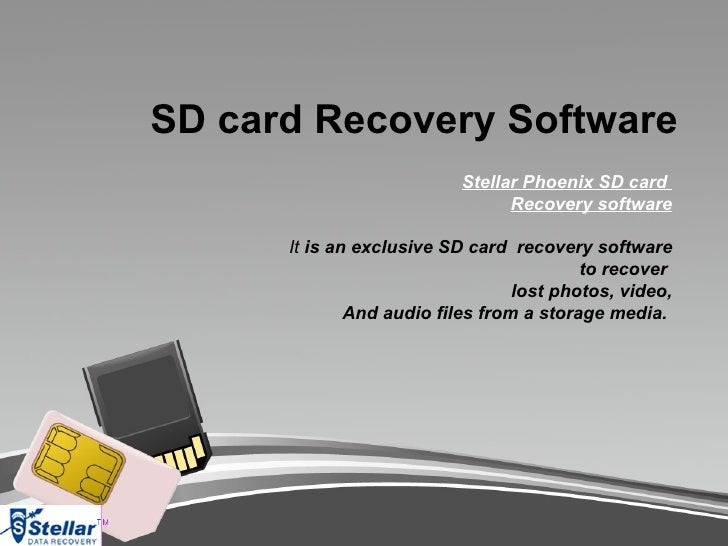 SD card Recovery Software                           Stellar Phoenix SD card                                 Recovery softw...