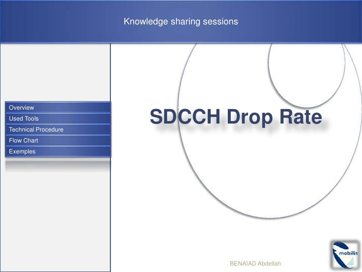 Knowledge sharing sessionsOverviewUsed ToolsTechnical Procedure                           SDCCH Drop RateFlow ChartExemple...