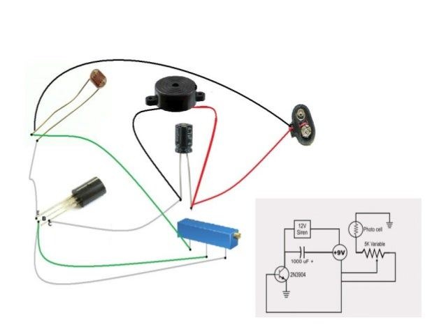 circuit diagram for laser security alarm