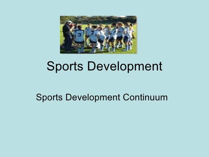 Sports development continuum