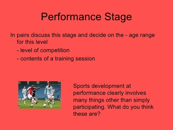 sports development continuum essay On jan 1, 2013, sotiriadou p (and others) published the chapter: the sport development process the process of attracting, retaining, transitioning and nurturing athletes in the book: managing high performance sport.