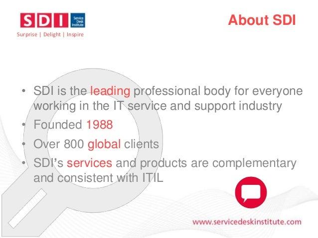 Service Desk Certification - An Introduction Slide 2