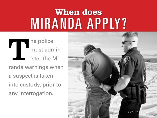 what is miranda rights Miranda's attorney appealed to the arizona supreme court, which upheld the conviction then he appealed to the united states supreme court, which agreed to hear it along with four similar cases in taking the case, the court had to determine the role police have in protecting the rights of the accused guaranteed by the fifth and sixth amendments.