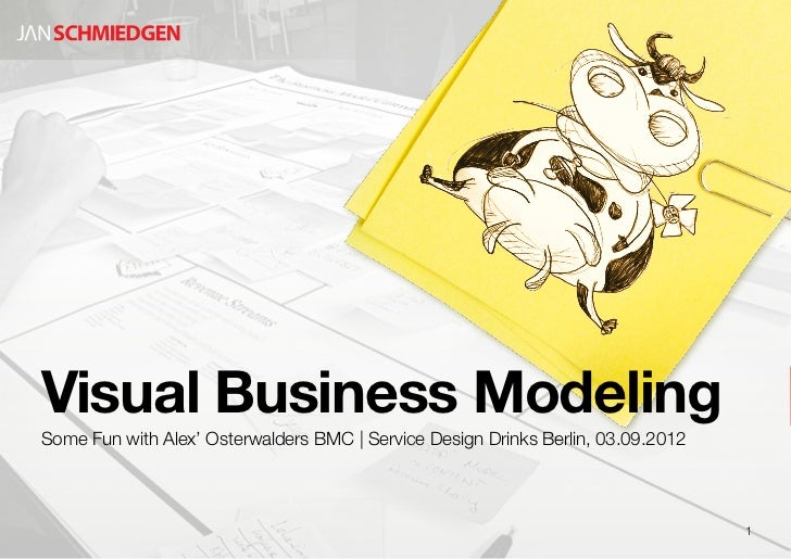 Visual Business ModelingSome Fun with Alex' Osterwalders BMC | Service Design Drinks Berlin, 03.09.2012                   ...