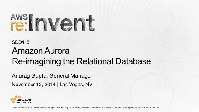November 12, 2014 | Las Vegas, NV Anurag Gupta, General Manager