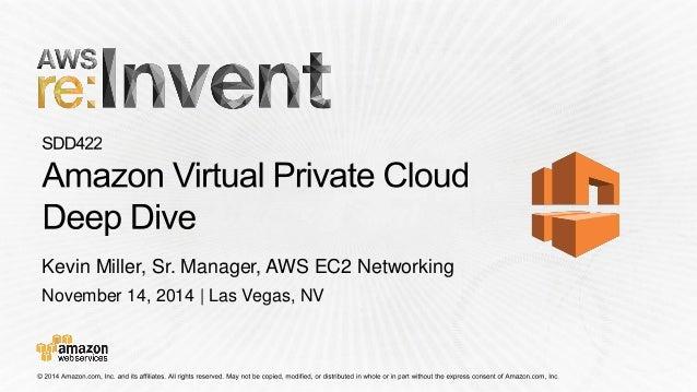 November 14, 2014 | Las Vegas, NV  Kevin Miller, Sr. Manager, AWS EC2 Networking