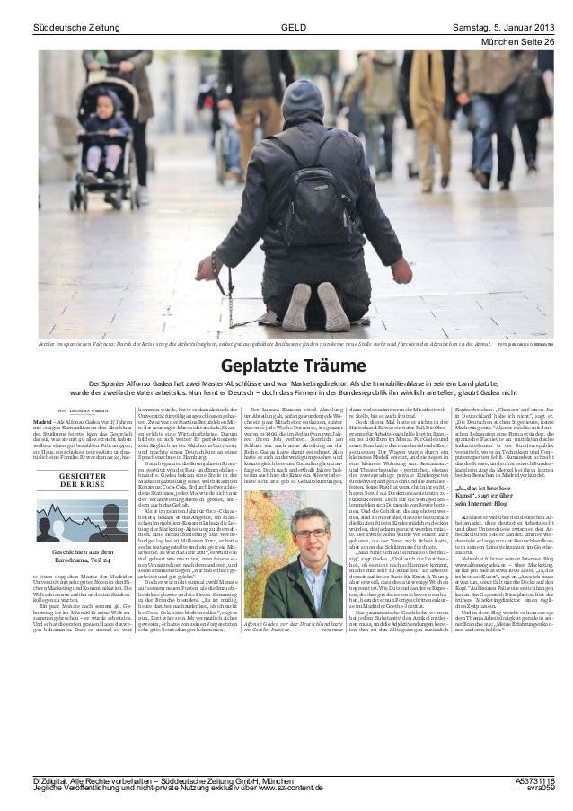 Süddeutsche Zeitung                                                                                            GELD       ...