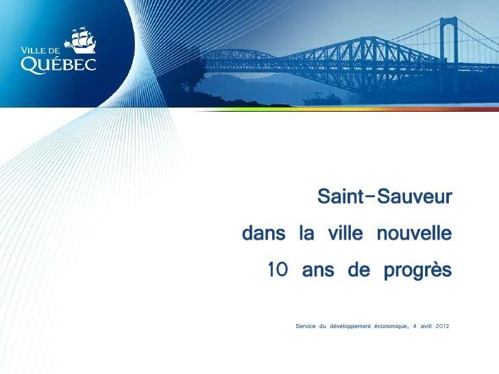 Service du développement économique, 4 avril 2012