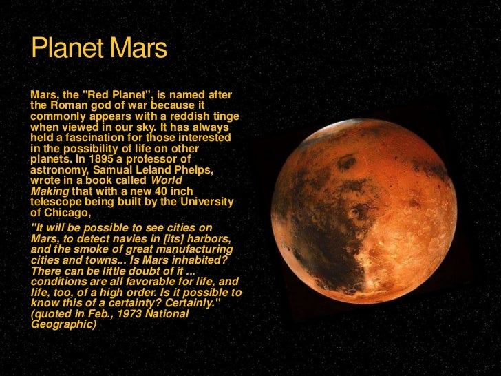 the planet mars and its inhabitants On july 31, when mars reaches its closest point to earth during its orbit — its so-called close approach — it's expected to be about 358 million miles away by contrast, the moon is an .