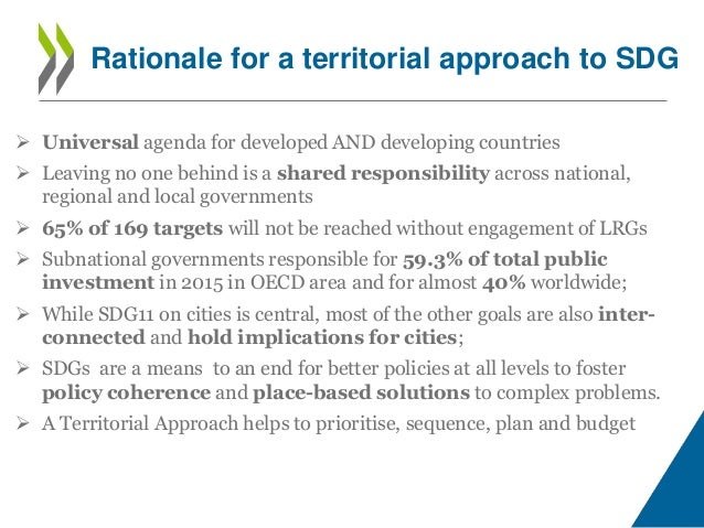 A Territorial Approach to the SDGs Slide 2