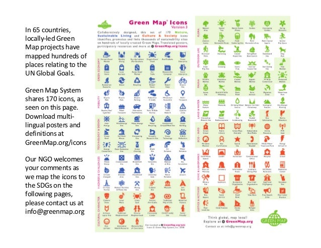 Green Map Icons matched with UN Global Goals - v1 Slide 2