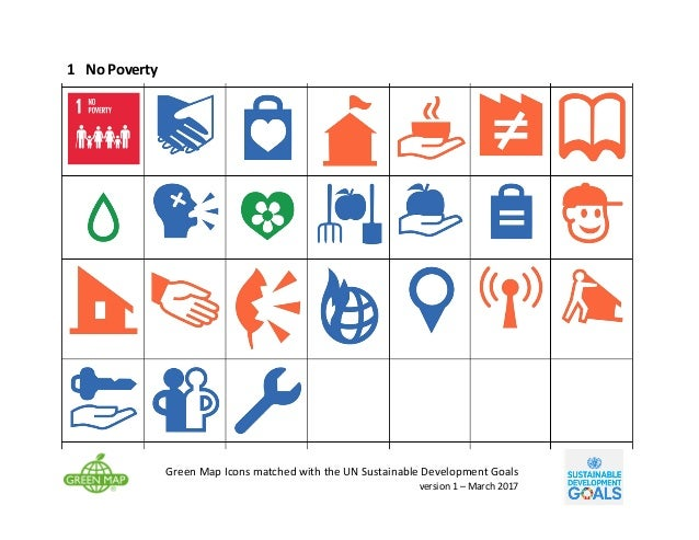 Green Map Icons matched with UN Global Goals - v1 Slide 3
