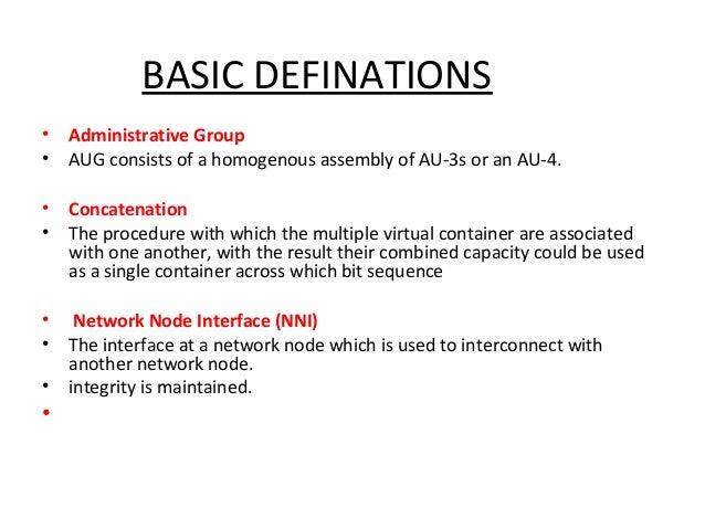 sdh basics Sonet / sdh & dwdm fundamentals  •develop sonet/sdh network architecture and configuration using  •understand the basics of dwdm.
