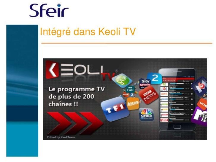 Intégré dans Keoli TV