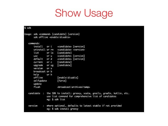 Show Usage