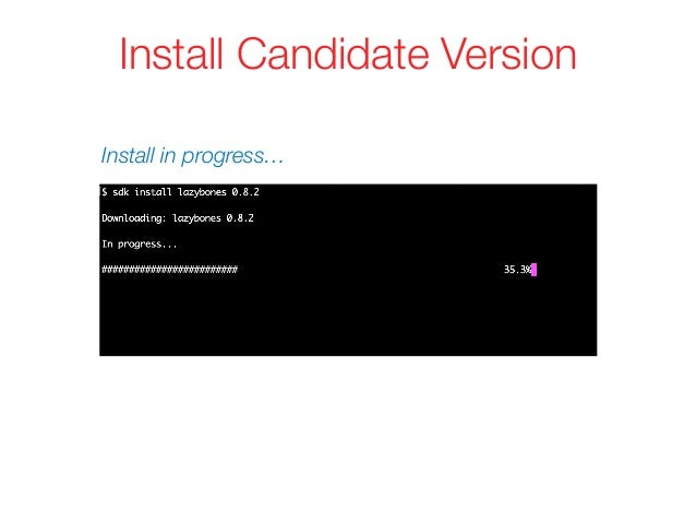 Install Candidate Version Install in progress…
