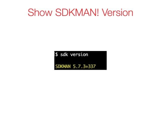 Show SDKMAN! Version