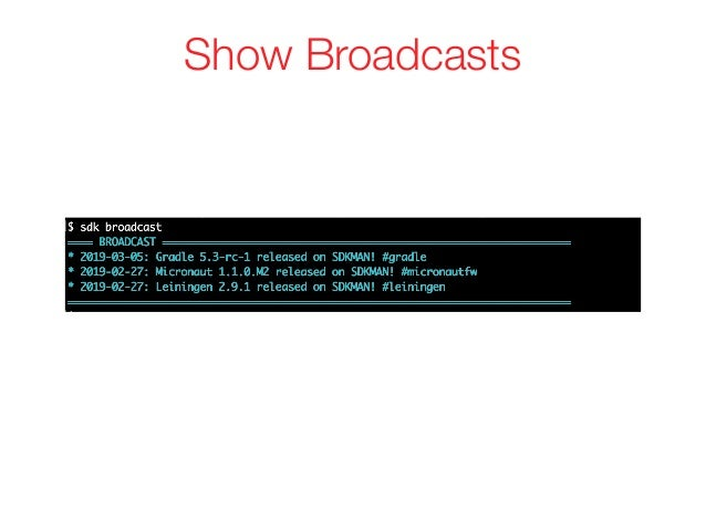 Show Broadcasts