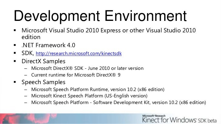 Kinect for Windows SDK Dr David Brown