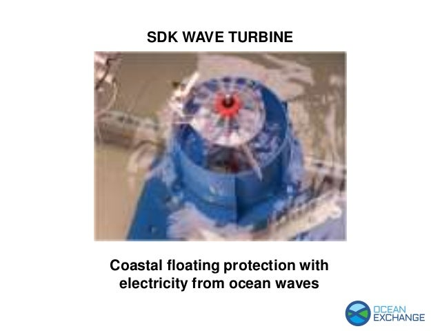 SDK WAVE TURBINE Coastal floating protection with electricity from ocean waves