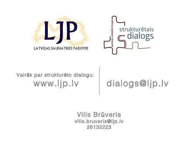 Strukturētā dialoga process Latvijā un Eiropā