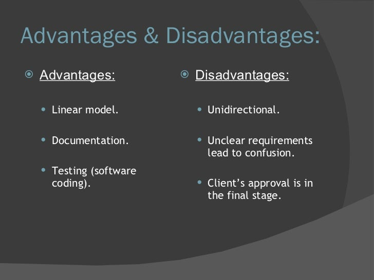 advantages and disadvantages of product life cycle Like any other concepts life cycle costing too have its advantages and disadvantages some of the benefits of life cycle costing are: useful to control programs, an excellent tool for making a selection among the competing contractions, beneficial in comparing the cost of competing projects, useful in reducing the total cost, and making.