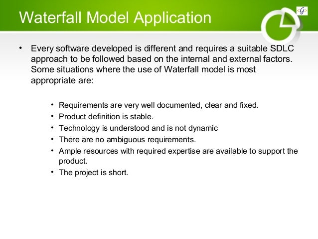 Sdlc software development life cycle for Waterfall model is not suitable for