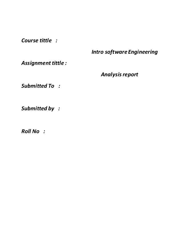 Sdlc course tittle intro softwareengineering assignment tittle analysis report submitted to submitted by ccuart Choice Image