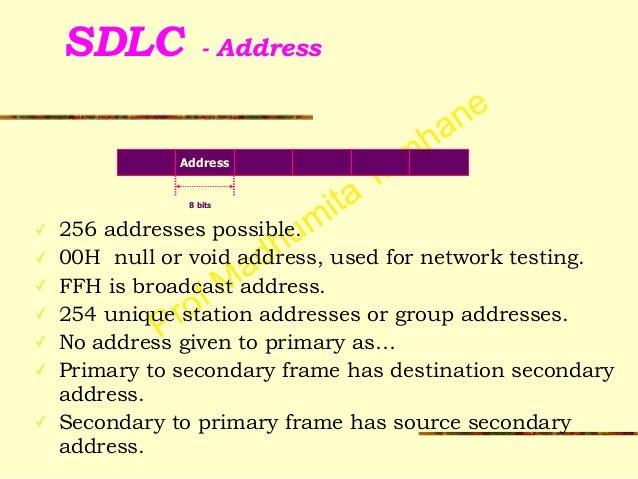Data Link Synchronous Protocols - SDLC, HDLC