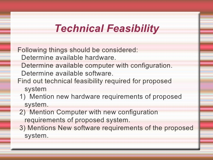 4 12 1 operational feasibility in student information system • lead/assist with feasibility studies and solution  information systems, 174 master  to easily translate the operational speak into the system,.