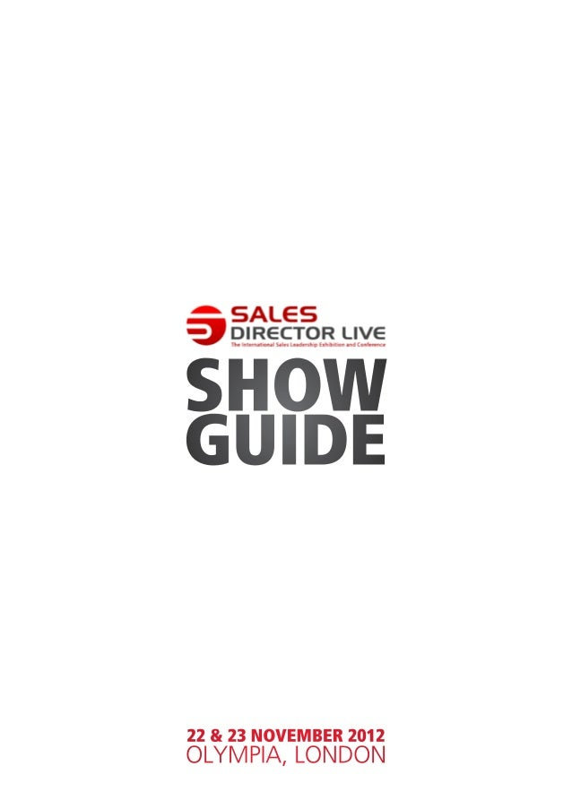 SHOWGUIDE22 & 23 NOVEMBER 2012OLYMPIA, LONDON