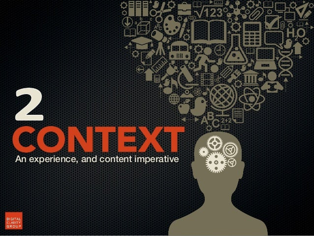 Technology optimizes experience. Understanding theaudiences enables optimization of content.