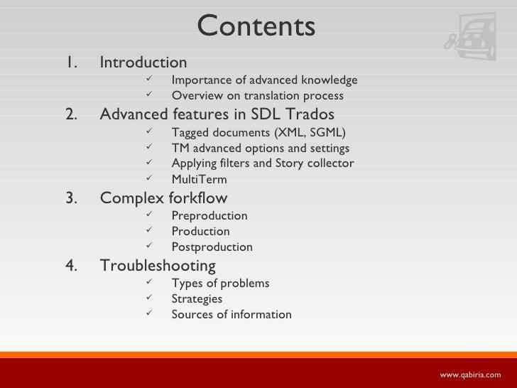 Contents <ul><li>Introduction </li></ul><ul><ul><ul><li>Importance of advanced knowledge </li></ul></ul></ul><ul><ul><ul><...