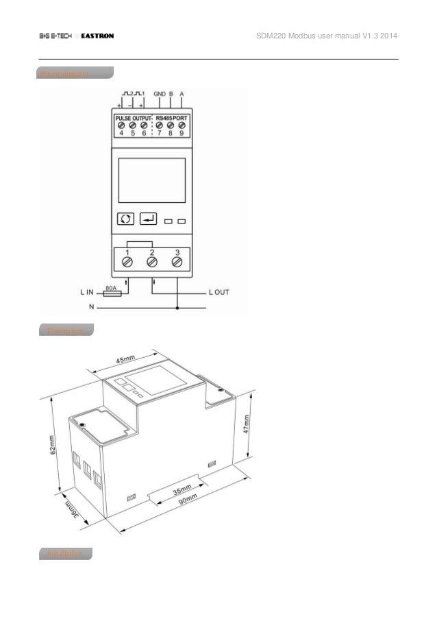 SDM 220 (Single Phase)