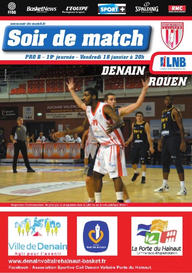 www.soir-de-match.fr                               PRO B - 19e journée - Vendredi 18 janvier à 20h                        ...