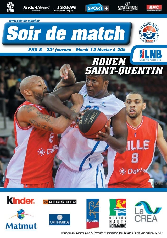 www.soir-de-match.fr                               PRO B - 23e journée - Mardi 12 février à 20h                           ...