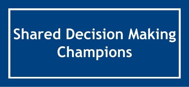 SharedDecisionMaking Champions