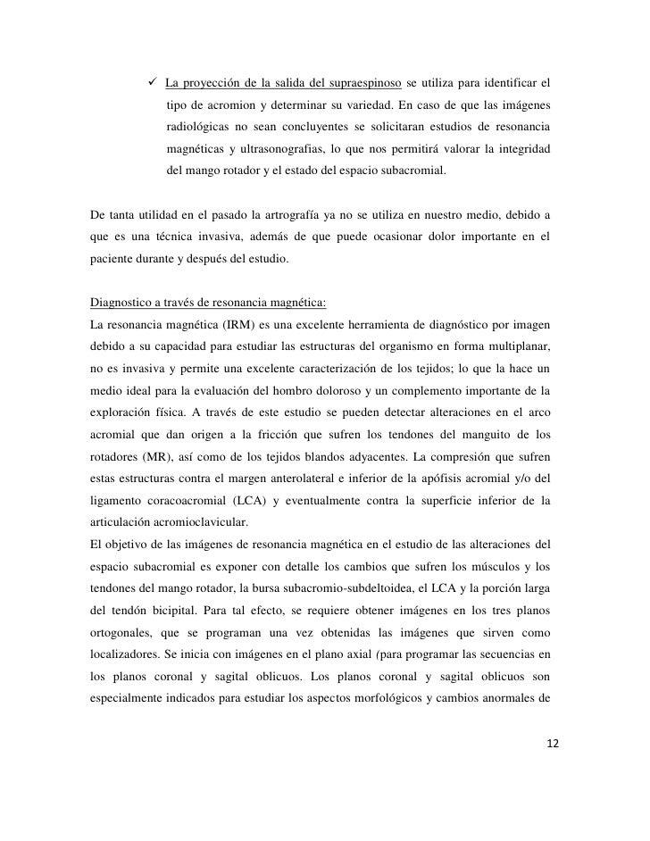 Sdme. de friccion subacromial en el handball
