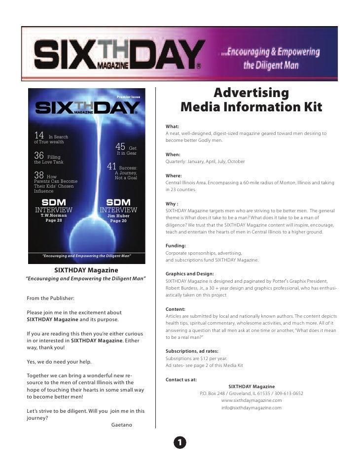 Premier Issue              Advertising                                                                   Media Information...