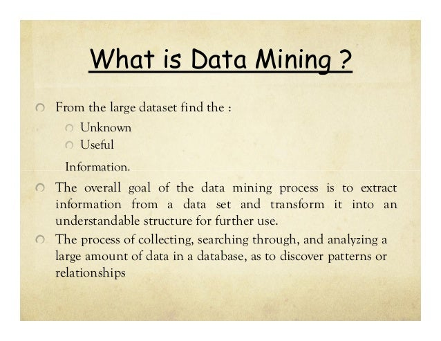 provide examples of data mining applications