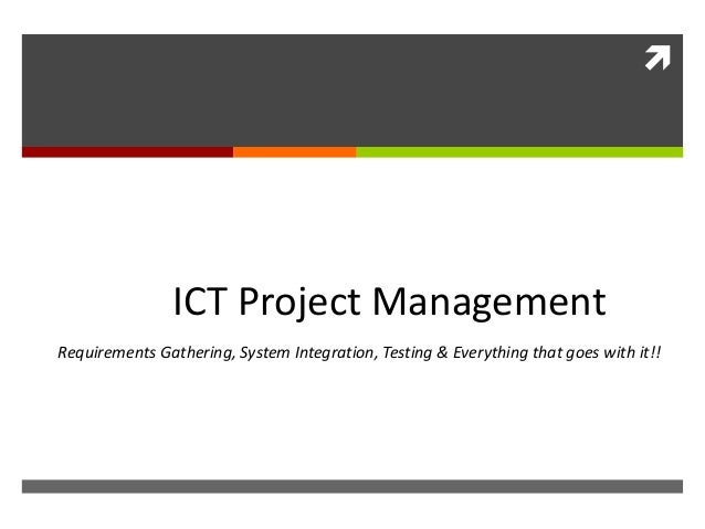 ict project Ict project manager - anzsco 135112 description plans, organises, directs, controls and coordinates quality accredited ict projects accountable for day-to-day.