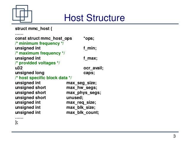 Linux SD/MMC Driver Stack  Slide 3