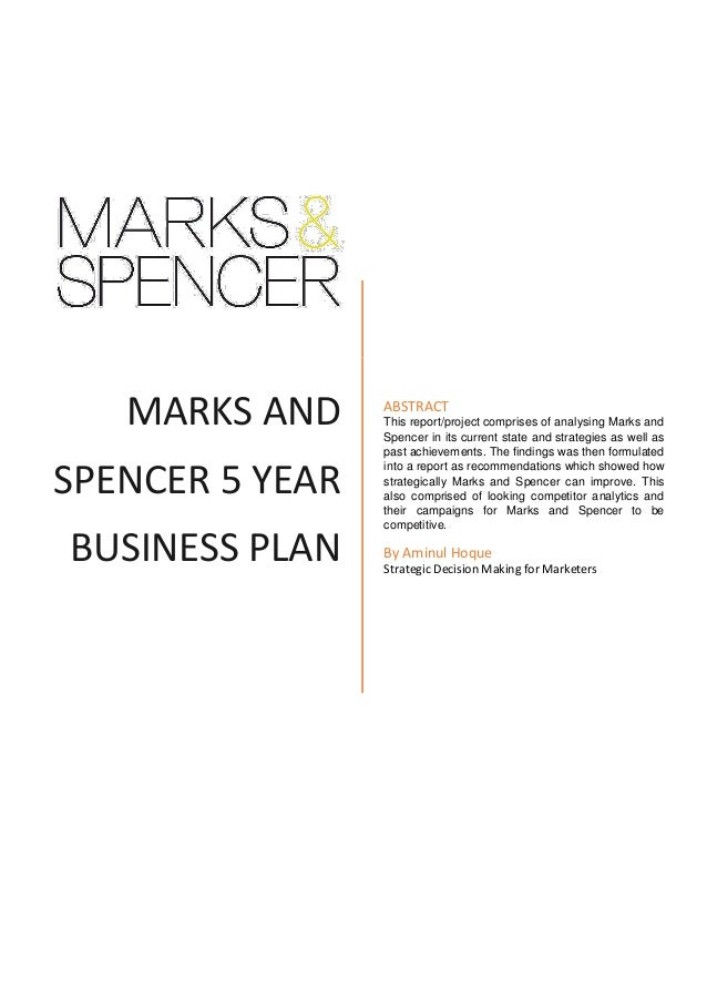 Strategic analysis of marks and spencer