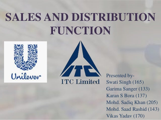 SALES AND DISTRIBUTION       FUNCTION              Presented by-              Swati Singh (165)              Garima Sanger...