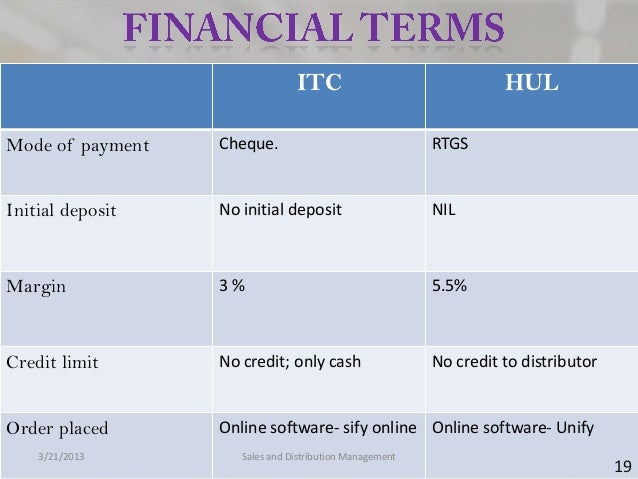 ITC                                HULMode of payment   Cheque.                                RTGSInitial deposit   No in...