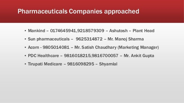 Sales and distribution of pharmaceutical industry