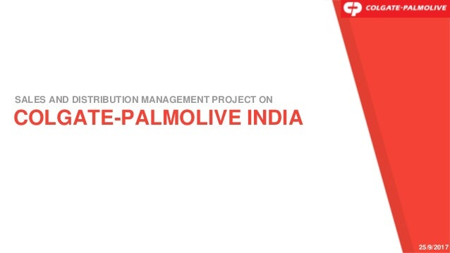 Colgate-Palmolive India-Sales and Distribution Management